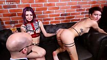 French sex coach Jean-Marie licks and fucks his new girls shaved pussy