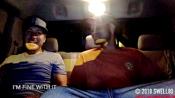 Straight d. latino agrees to jerk it to porn in my truck