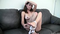 Dagfs - Amateur Babe Strips and Shows Everything She Has To Offer