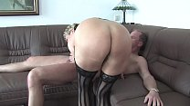 Free Version - Lucia old milf dresses up and enjoys a hot cumshot in her mouth