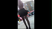 Amazing upskirt of a girl in the street