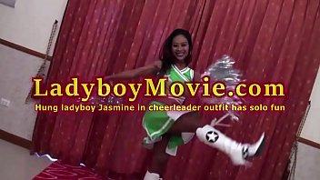 Hung Ladyboy Jasmine Beats The Drum With Dick