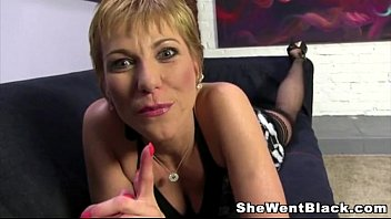 Mature Cougar Gemma More Rough Fucks a Black Cock