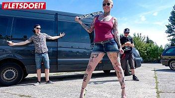 LETSDOEIT - Tattooed Blonde Milf Fucked Hard In The Sex Bus
