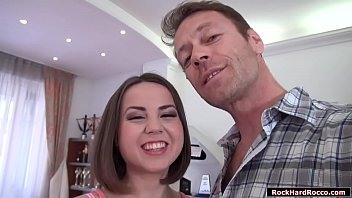 Russian babe analed by Roccos huge dick