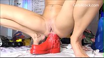 Girls4cock.com *** Small Tiny Girl takes HUGE BOOT IN HER ASSHOLE