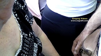 Milf Wife get's groped  on the way to work on Bus 10 min