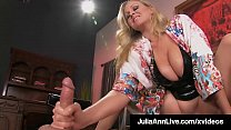 Beautiful Busty Cougar Julia Ann Straddles Boy Toy's Face!