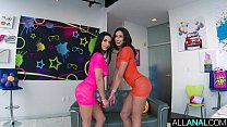 ALL ANAL Anal gaping threeway with Cassie and Nelly