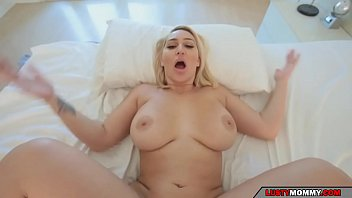 son wants to check the big tits and the big ass of his stepmother