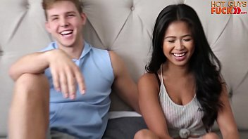 Asian Broad with INCREDIBLE body fucks Surfer Dude. 15 min