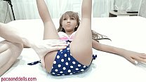 Fucked Teen sex Doll and Cumshot Inside