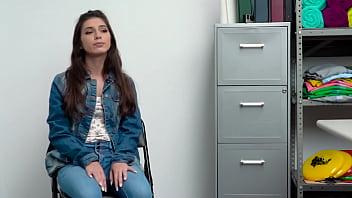 Hot shoplifter teen Gianna Gem fucks