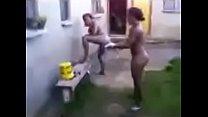 Nigeria School of Health Students Take Bath Outside
