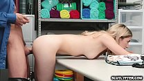 Blonde babe gets her cootie penetrated from behind by the LP Officer