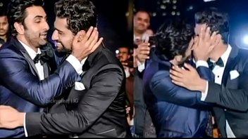 Bollywood actor Ranbir Kapoor Hot Gay kiss with Male actor