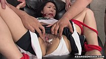 Sweet Ai Mizushima is getting stuffed with a huge dildo