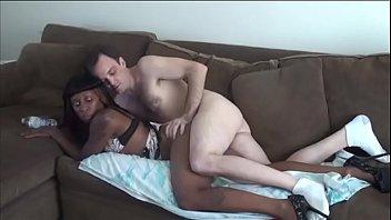 White hunk eats black pussy before he fucks her hardcore