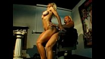 Amazing blonde with perfect tits gets her asshole drilled by cock on the chair