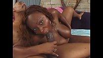 Cute ebony babe Skyy Black enjoys her wet cunt banged hard by a huge hard pole