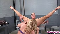 Lindsey and Abigail becomes more erotic as they took turns eating each others out and moans in pleasures