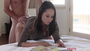 MOM reads magazine while HORNY SON fucks her- Crystal Rush
