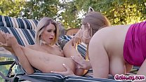 Emma Hix and Skylar Snow cant resist each other anymore and start pleasuring each other