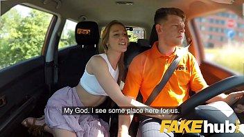 Fake Driving School Horny minx Alexis Crystal desires drivers cock