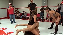 Tied wrestler fucked in public