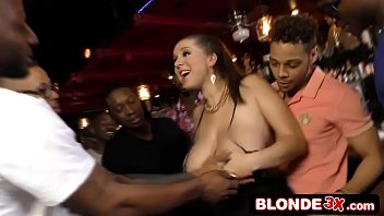 Busty Bar Maid Ass-Banged By a Black Gang (Alex Chance)
