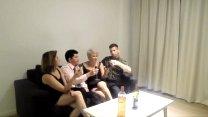 Orgia com minha irmã e dois estranhos que encontramos em um bar