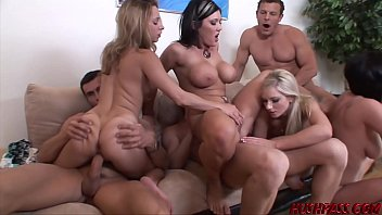 Nubile babes Lindsey and Nikki fed cock and banging orgy 18 min