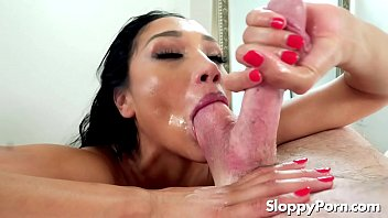 Vicki Chase sloppy balls licking