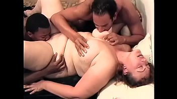 Two white  outsize women Cowgirl and Cotton Candy begged guys living next door to strech their fucking holes with their massive dongs