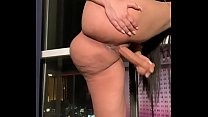 Sexy Latina fucking herself with dildo