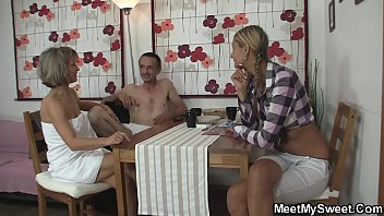 Family orgy with his blonde girlfriend