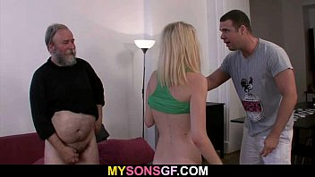 Dad punishes his son's GF 6 min