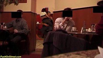 b. anal sex in a public coffee shop