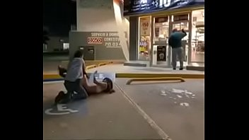 Bitch in Mexico sucking dick infront of gas station