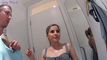Fitting Room Sex With Clothing Store Consultant Ends Cum Swallow