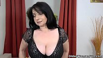 European granny Deborah works her old pussy with toys