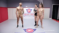 Victoria Voxxx nude wrestling fight and hardcore fucking