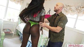 Ebony babe assfucked by a white guy 6 min