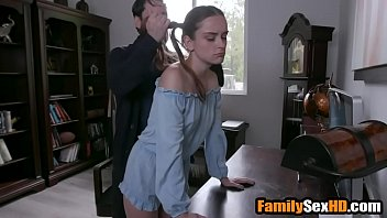 Jealous step dad punishes his teen daughter 8 min
