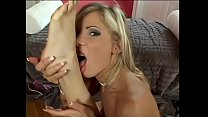 Hot blonde chick gets her pussy lick by her girlfriend