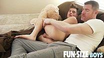 FunSizeBoys - Giant cock stuffs tiny guy bareback and shoots big load