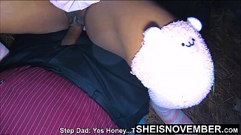 HD Teaching My Ebony StepDaughter Sex In The Forest & Straddling A BBC, Naive Ebony Nerd Msnovember Obeys Step Dad And Climbs On Top Of His Older Dick , Enormous Ebony Boobies Sagging, Hardcore Taboo Ebony Sex On Sheisnovember