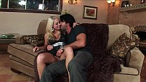 Big Tits Hot Wife´s Surprise for the Big Dick Husband ended up facial cum