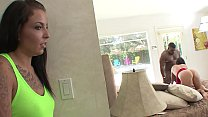 Stepdaughter catches Stepmom cheating on Stepdad with a Big Black Cock BBC