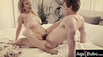 Michael Vegas is the new caregiver of rich grandma Erica Lauren. She likes him and ask him ato give her a hot fuck massage and made her satisfied.
